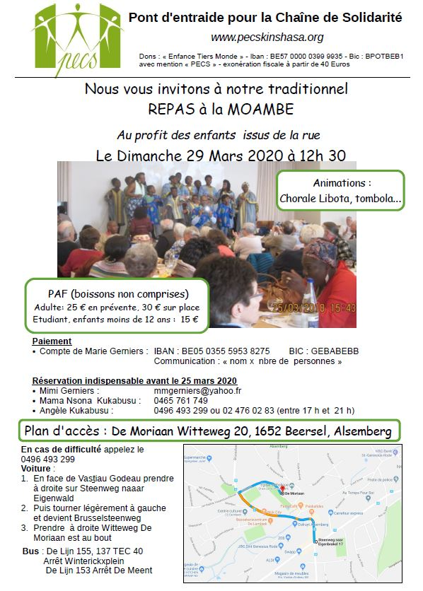 Buffet Congolais 29-3-2020